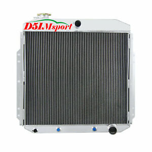 4row Aluminum Radiator For 53 54 56 Ford F100 F250 F350 Pickup Chevy V8 Engine