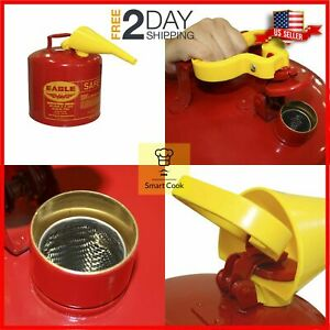 5 Gallon Safety Gas Can Eagle Ui 50 fs Red Galvanized Steel Type I Funnel Usa
