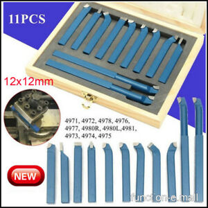 11pcs set 12mm Metal Lathe Tools knife Bits For Milling Cutting Turning Usa