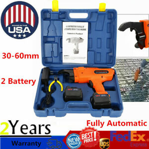 30 60mm Automatic Handheld Rebar Tying Machine Rebar Tying Tool 2 li ion Battery