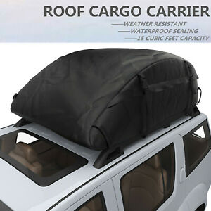 Car Cargo Roof Top Carrier Bag Rack Storage Luggage Waterproof Rooftop 15 Cubic