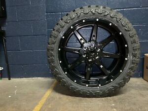22x10 Tuff T15 Black 33 Mt Wheel And Tire Package 5x5 Jeep Wrangler Jk Jl