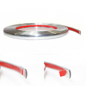 3m Car Chrome Styling Decoration Moulding Trim Strip Tape Protector Cover 7mm