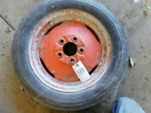 4 00 X 15 Tractor Front Tire On Allis Chalmers 5 Lug Tractor Rim Tag 588