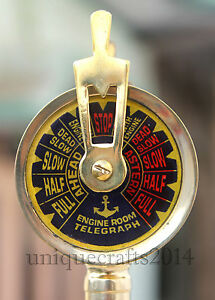 Shiny Brass Nautical Ship Engine Room Telegraph 7 Collectible Maritime Gift
