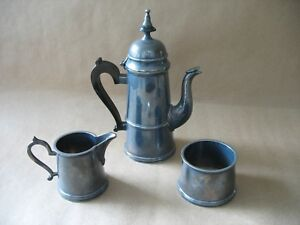 A Vintage Made In India Silver Plated Tea Set Teapot Creamer