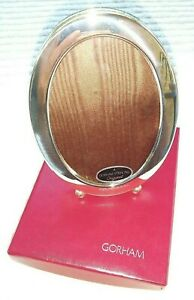 Vintage Newport Gorham Sterling Silver Oval Picture Frame W Ball Feet New In Box