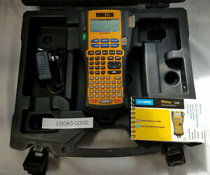 Dymo Rhino 5200 Label Printer With Case Printed Guide Power Cord