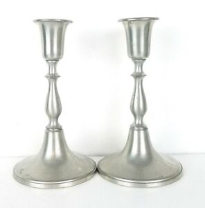 Woodbury Pewters 6 3 4 Inch Antique Candlesticks Candle Sticks Set Of Two