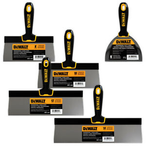 Dewalt Taping Knife Set Premium Stainless Steel 8 10 12 14 6 Putty Knife