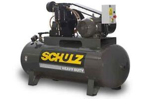 New 10hp Schulz Air Compressor Two Stage Elec Three Phase 230 Vlt 10120hl40x 3