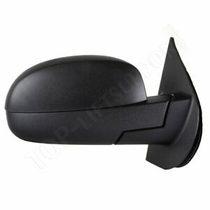 Passenger Side Mirror Power Fold Memory Heated Puddle Signal Black For Chevy Gmc
