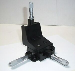Newport M 460a Quick mount Linear Stage 0 5 Xyz Travel Mitutoyo Micrometers a