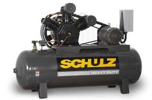 New 10hp Schulz V And W Air Compressor Two Stage Elec 3 Ph 230 Vlt 10120hw40x 3