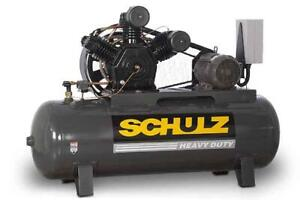 New 15hp Schulz V And W Air Compressor Two Stage Elec 3 Ph 230 Vlt 15120hw60x 3
