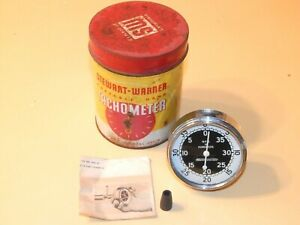 Vintage Stewart Warner Tachometer Model 757 W In Can