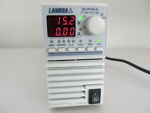 Lambda Regulated Dc Power Supply Zup36 6 0 36v 0 6a Tested Working