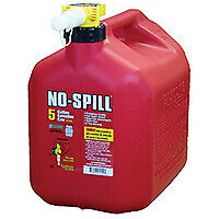 No spill 1450 Gas Can 5 Gal Capacity Plastic Red