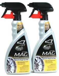 2 Eagle One 23 Oz For Rough Cast Alloy Fast Act Foam Etching Mag Wheel Cleaner