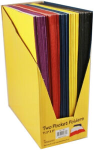 Two Pocket Folders 9 X 12 Assorted Colors Case Of 100