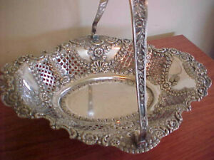 Albert Bradshaw Sheffield England Ornate Silver Bride S Basket 1800 S