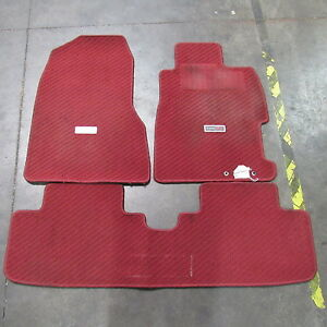 Jdm Honda Civic Type R Ep3 Oem Floor Mats Red K20a 2002 2005 Si
