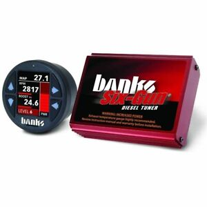 Banks Six gun Tuner With Idash 1 8 For For 2001 2004 Gmc chevy 6 6l Duramax Lb7