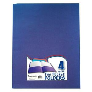 Two Pocket Folders 4 Pack Assorted Colors Case Of 48