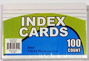 100 count Index Cards 4 X 6 Case Of 72