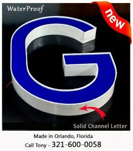 New Channel Letter 18 Sign Letters Business Signage Custom Made