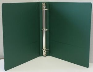 2 Basic 3 ring Binder W Two Inside Pockets Green Case Of 12
