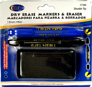 Dry Erase Markers Twin Tips Eraser Case Of 24