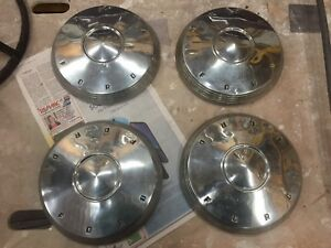 1961 1962 Ford Galaxie Fairlane F100 Truck 10 1 2 Dog Dish Hubcaps 63 64 65 66