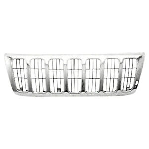 Front Grille Fits 1999 2003 Jeep Grand Cherokee 104 01656a