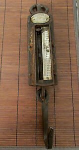 Antique Iron Clad Spring Scales 0 400lb Heavy Duty Hanging Scale Chatillon Rb36