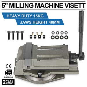 5 125mm Precision Swivel Rotating Base Bench Vice Sawing Fixed Jaw Grinded