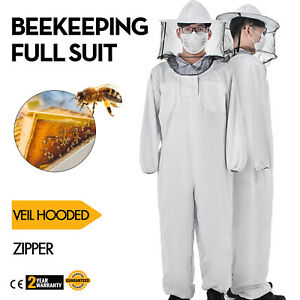 Beekeeping Full Suit Round Veil hooded Zipper Comfortable Necessity Cotton