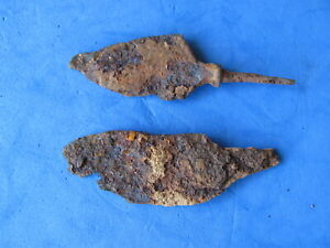 Scarce Lot 2 Ancient Roman Iron Arrows