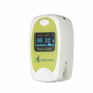 Fingertip Pulse Oximeter Blood Oxygen Monitor Spo2 pr pi Detect Alarm With Pouch