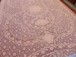 Stunning Pair Of C 1910 French Normandy Lace Twin Coverlets Unused Original Tags