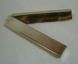 Great Antique Art Deco French Sterling Silver Folding Comb
