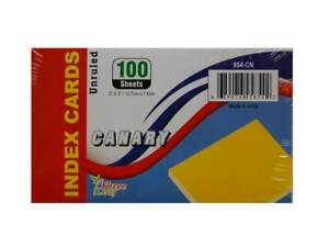 3 X 5 Unruled Canary Index Cards Case Of 40