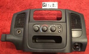 01 02 03 04 05 Dodge Ram 1500 Radio Dash Trim Bezel Climate Control Black