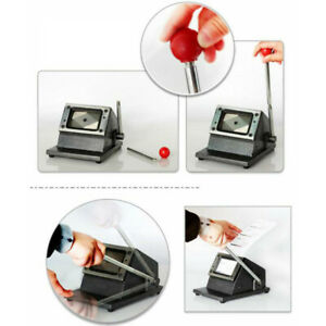 Heavy Duty Photo Id Manual Die Cutter Punch Credit Card Round Corner Black Us