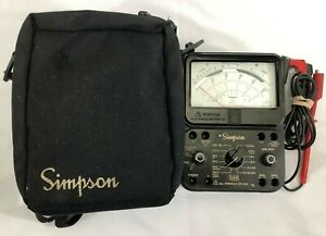 Simpson 260 Series 8p Overload Protection Multimeter W Leads And Case
