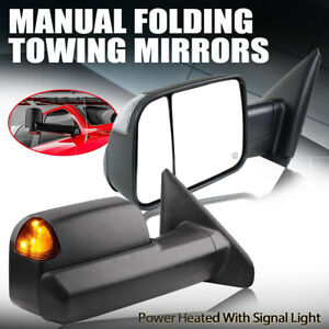 Fit 02 08 Dodge Ram 1500 03 09 2500 3500 Power Heated Turn Signal Towing Mirrors