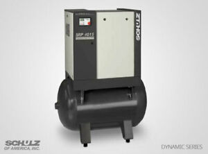 New 51 Cfm 15 Hp Schulz Rotary Screw Air Compressor 208 230 Volt Dynamic Series