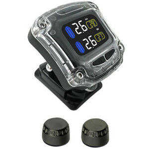 Universal Wireless Motorcycle Tpms Tire Pressure Monitoring System With 2 Sensor