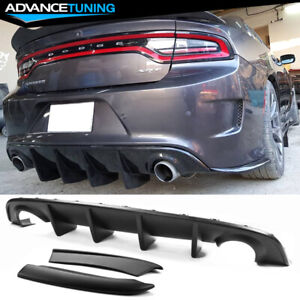 Fits 15 20 Dodge Charger Srt Rear Diffuser Bumper 2pc Side Aprons Pp