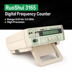 Ruoshui 3165 Digital Precision Radio Frequency Counter Testing Meter 0 01 2 4g Z